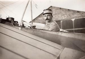 Aviation Lieutenant Princeteau dans son Monoplan Bleriot Ancienne Photo Rol 1911