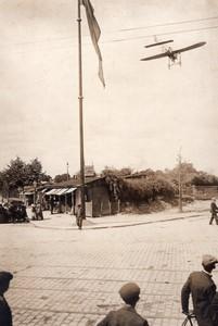 Aviation Circuit de l'Est Passage de Leblanc sur Bleriot Ancienne Photo Branger 1910