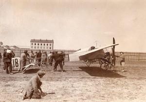 Dijon Aviation Course Paris Madrid Garros sur Bleriot Ancienne Photo Rol 1911
