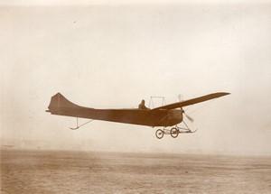 Issy les Moulineaux Aviation Monoplan Clement-Bayard en vol Ancienne Photo Rol 1911