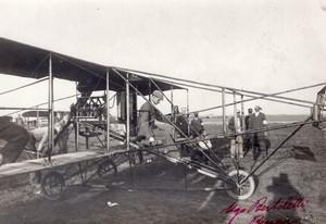 Italie Meeting de Brescia Glenn Curtiss sur son Biplan Aviation Ancienne Photo 1909