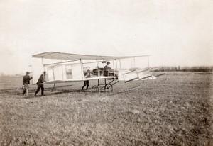 France Aviation Delagrange et Paulhan Biplan Voisin Ancienne Photo 1907