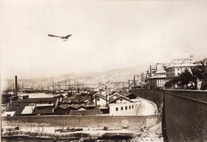 Italie Genes Vidart sur Deperdussin Course Paris Rome Aviation Ancienne Photo Rol 1911