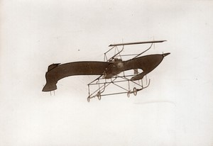 Juvisy Aviation Schreck sur Monoplan Diapason en vol Ancienne Photo Rol 1911