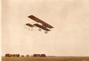 Aviation Militaire Tour de France Menard sur Biplan Henry Farman Ancienne Photo Rol 1911