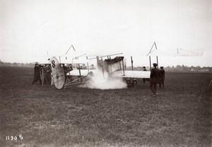 Juvisy Aviation Maurice Chevilliard sur biplan H. Farman Ancienne Photo Rol 1913
