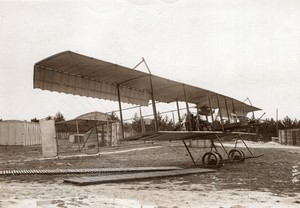 Mourmelon? Aviation militaire Biplan Farman Lance Torpille Ancienne Photo Branger 1912