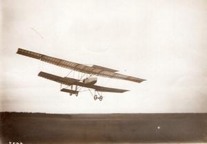 Etampes Aviation Coupe Michelin Henry Farman en Vol Ancienne Photo Rol 1910