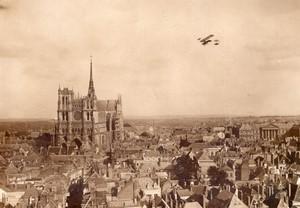 Amiens Aviation Circuit de l'Est Legagneux sur Farman Ancienne Photo Rol 1910
