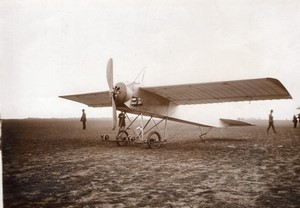 France Aviation Avion Monoplan Farman Gnome 50CV ancienne Photo Branger 1911