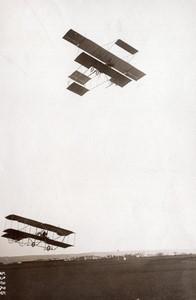 Lyon? Aviation Legagneux sur Sommer & Geo Chavez sur Farman Ancienne Photo Branger 1910