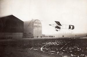 Issy les Moulineaux Aviation Alfred Lanser sur Farman Grand Prix de l'ACF Ancienne Photo Meurisse 1910