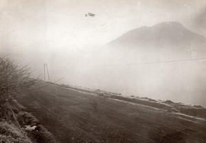 Puy de Dome Aviation Prix Michelin Renaux sur Maurice Farman Ancienne Photo Branger 1911