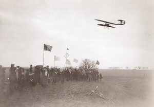 Buc Aviation Coupe Michelin Tabuteau sur Maurice Farman Ancienne Photo Meurisse 1910