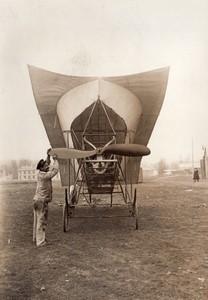 France Juvisy? Aviation Uniplan Gonnel Ancienne Photo Meurisse 1911