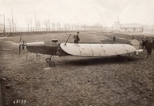 France Aviation Monoplan de Marcay-Moonen Ailes repliees Ancienne Photo Branger 1911