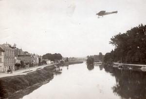 Aviation Circuit Europeen Reims-Liege Weymann sur Nieuport Ancienne Photo Branger 1911