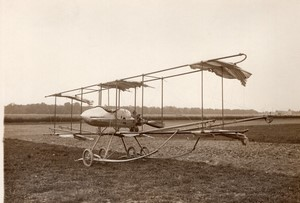 St Cyr Aviation Biplan Paulhan-Fabre replie Ancienne Photo Rol 1911