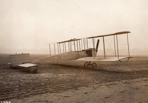 Issy les Moulineaux Aviation Biplan Rimailho Ancienne Photo Rol 1911