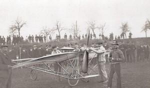 St Cyr? Aviation Santos Dumont et sa Demoiselle 20 Ancienne Photo 1909