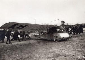 Issy les Moulineaux Aviation Course Paris Madrid Train au Depart Ancienne Photo Meurisse 1911