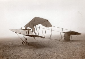 Issy les Moulineaux Aviation Colliex? sur Biplan Voisin Ancienne Photo Rol 1911