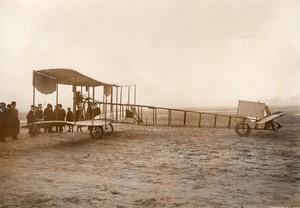 Issy les Moulineaux? Aviation Canard Voisin Biplan sans queue Ancienne Photo Rol 1911