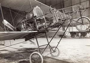 France Aviation Biplan Voisin Detail des Commandes Ancienne Photo Meurisse 1910