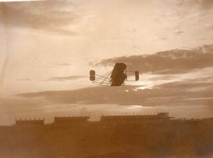 Reims Betheny Aviation Semaine de Champagne Tissandier sur Wright Ancienne Photo 1909