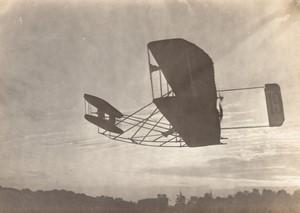 Juvisy Port Aviation Quinzaine de Paris Comte de Lambert sur Wright Ancienne Photo 1909