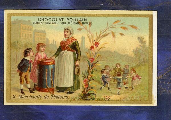 chromo-Poulain-Marchande-de-plaisirs-Gateaux-Oublies-Cakes-Enfants-Trade-card