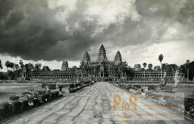 Angkor Ancienne Photo Instantanée Amateur 1930